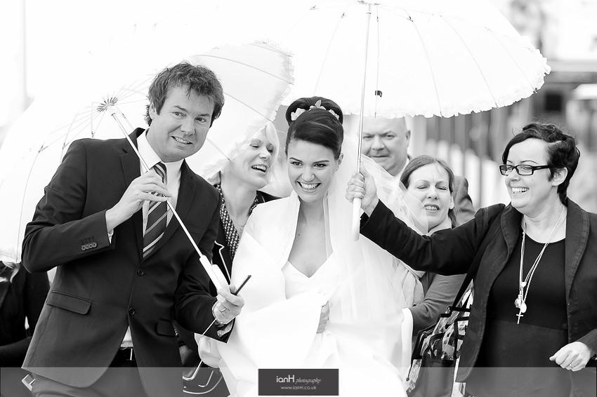 TV Bride arrives at Beach Weddings Bournemouth