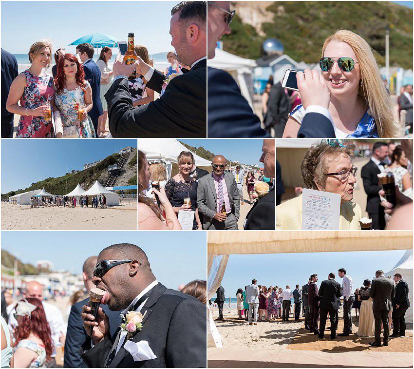 Post wedding fun and drinks at Beach Weddings Bournemouth