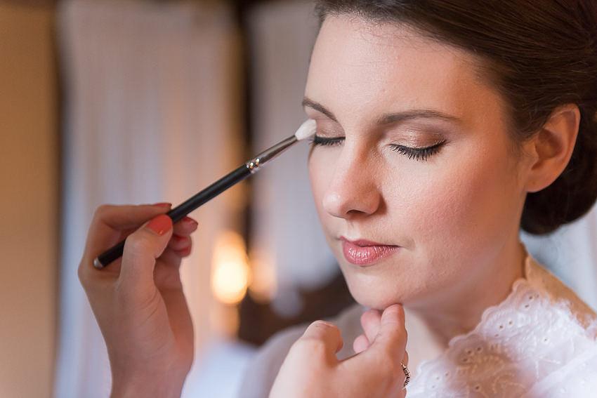 Bridal makeup at Tudor Grange Hotel