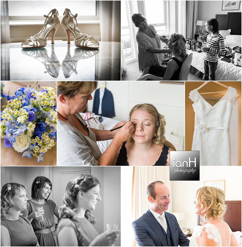 Wedding preparations at Bournemouth Marriott Highcliff Hotel