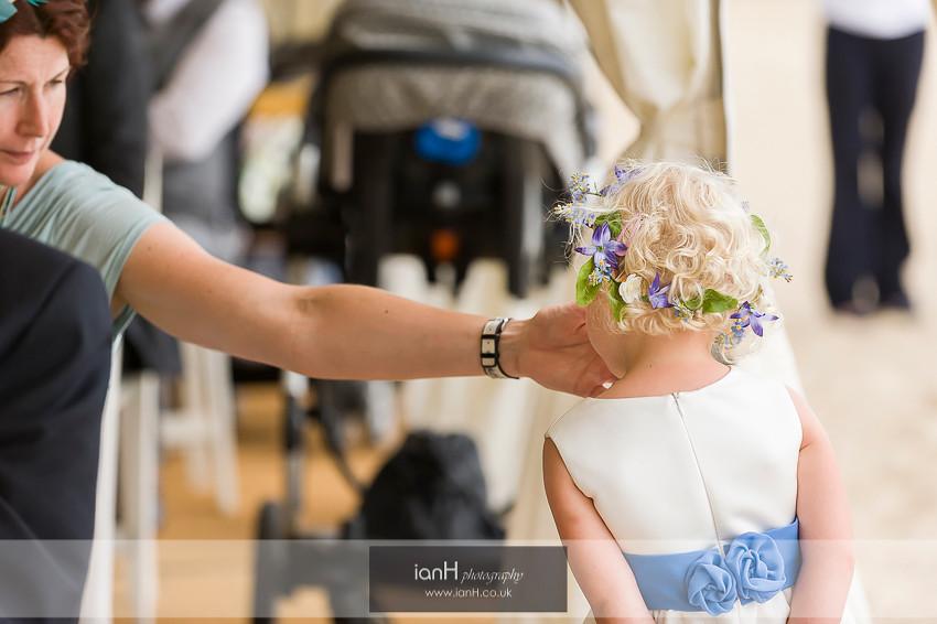 Cute flower-girl at Beach Weddings Bournemouth