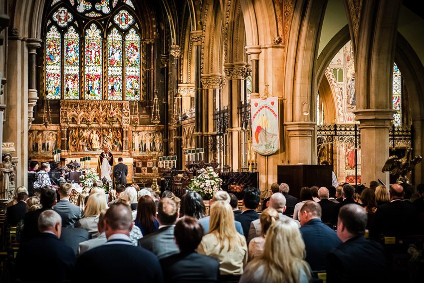 Wedding at St Peter's Church Bournemouth
