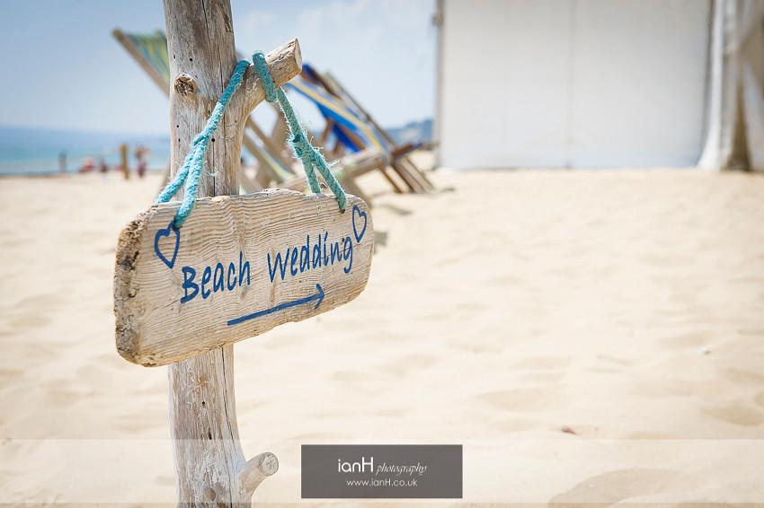 Beach Weddings Bournemouth signpost