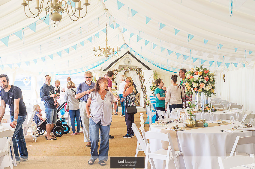 Brides-to-be at Bournemouth beach wedding venue