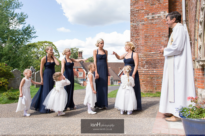 Bridesmaids and Flowergirls Lyndhurst wedding