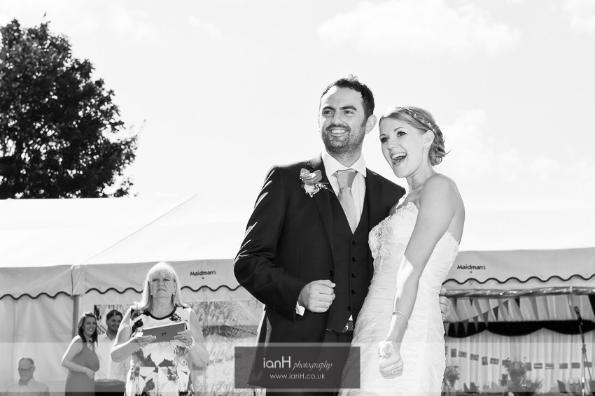 Bride and Groom country wedding