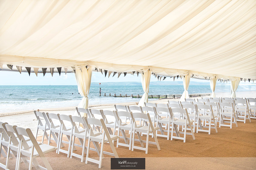 Beah view from Beach Weddings Bournemouth