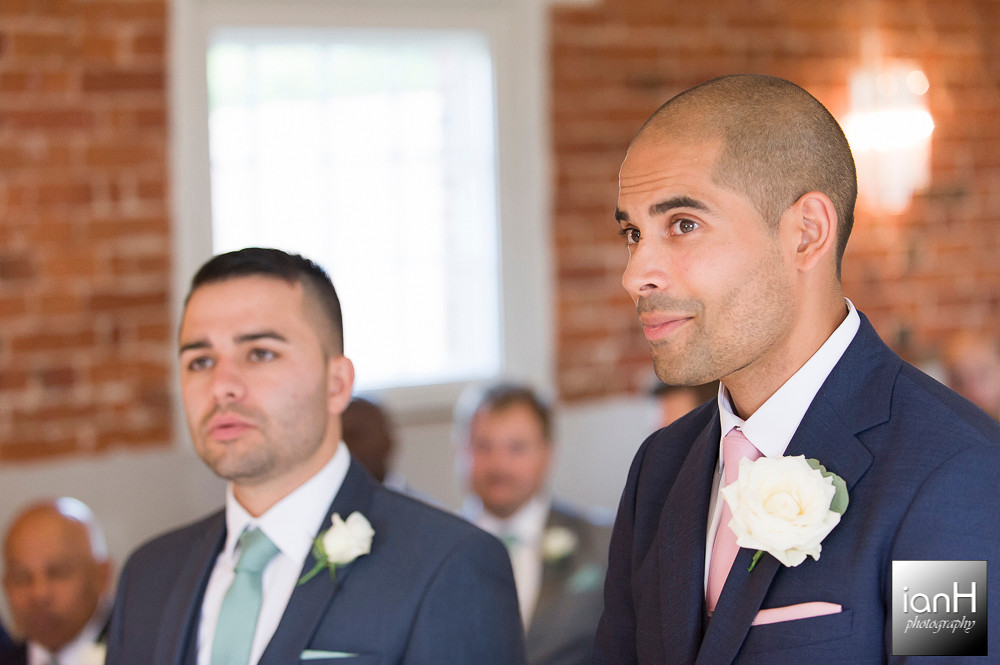 Groom and Best Man - Sopley Mill wedding