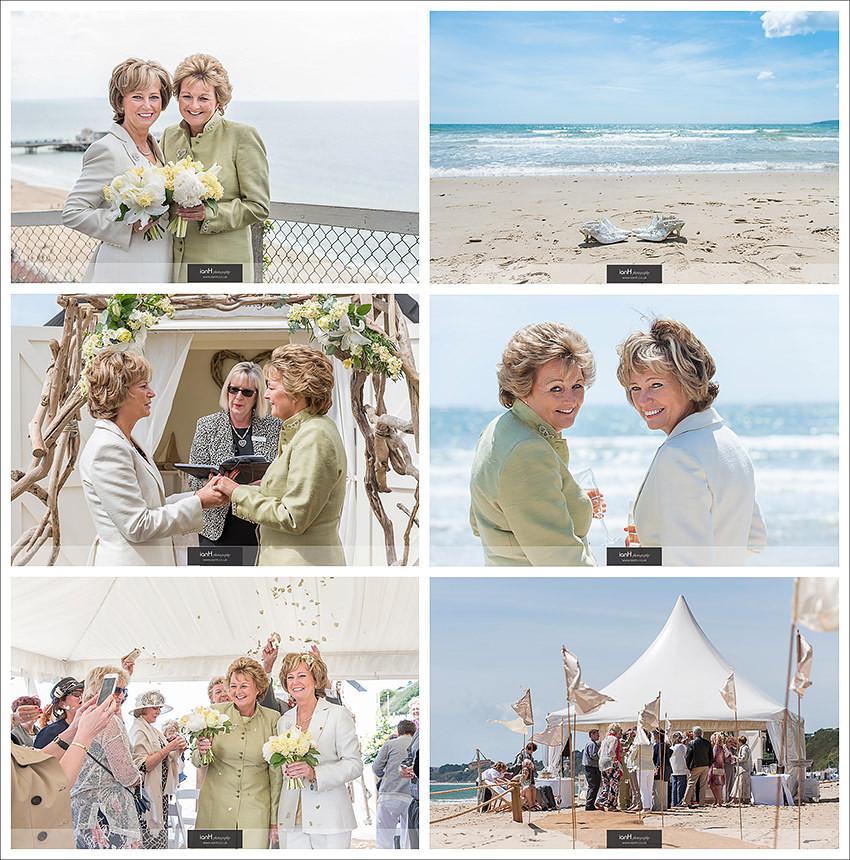 Beach Weddings Bournemouth - Fran & Jackie