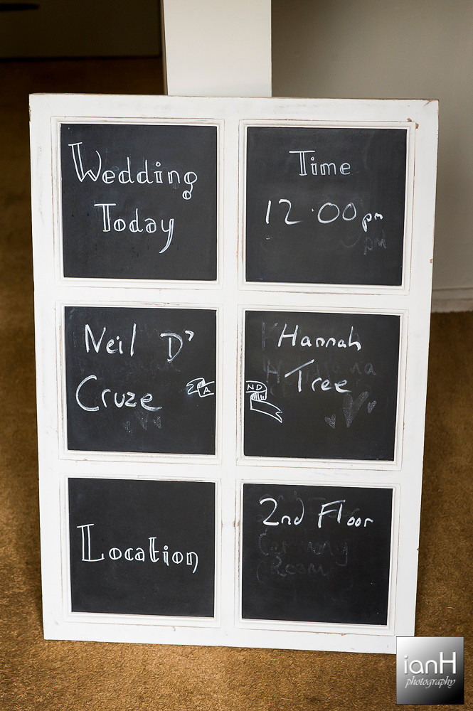 Chalkboard Sopley Mill wedding