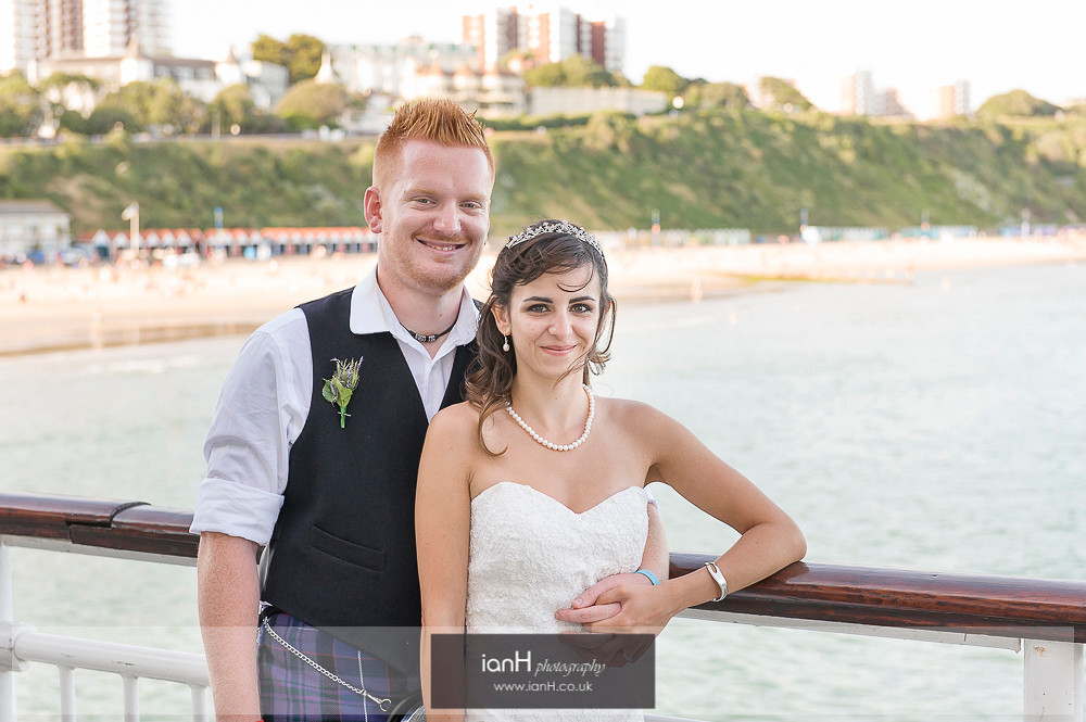 Bride and Groom on Bournemouth Pier