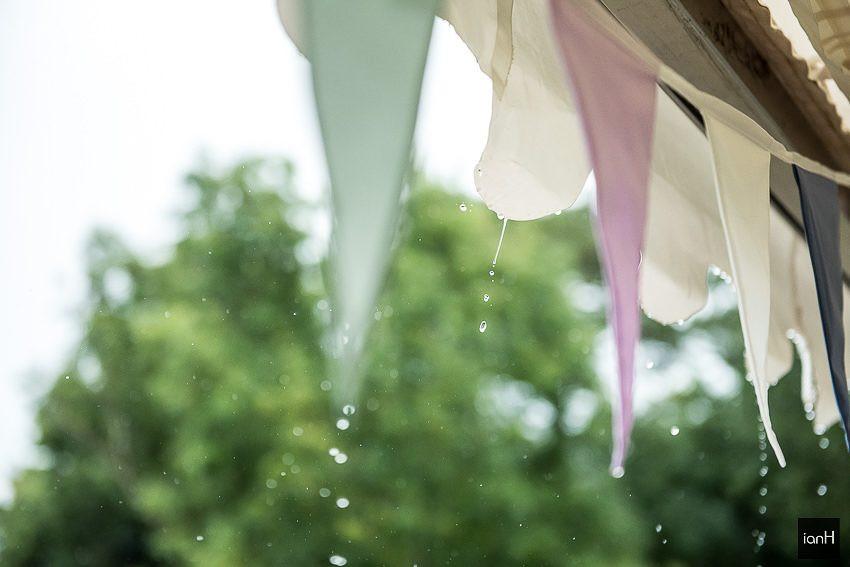 raindrops at a wedding