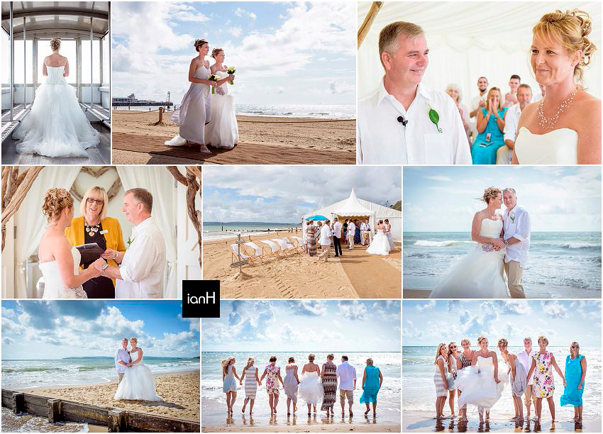 Fun-filled Bournemouth beach wedding
