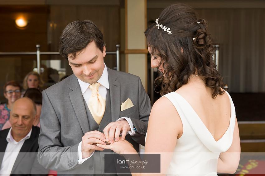 Exchange of rings at Riviera Hotel wedding
