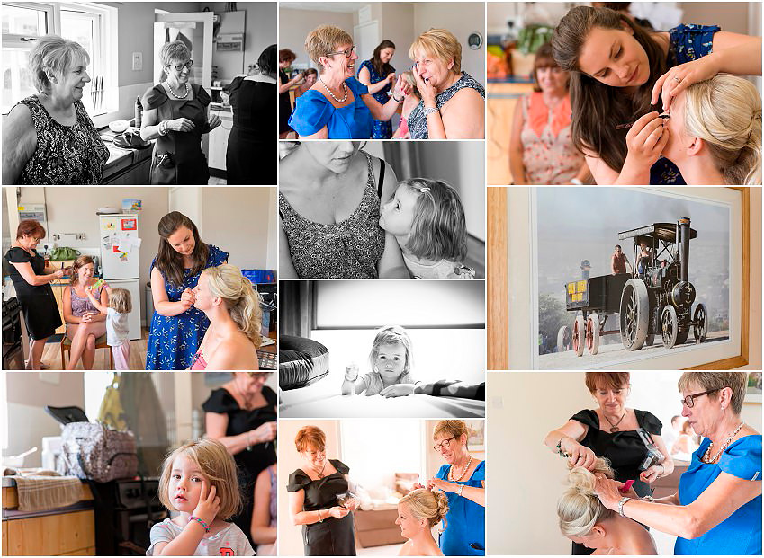 Bridal preparations for New Forest wedding