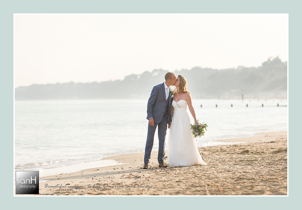 Beach Weddings Bournemouth - Cath and Nick steal a kiss away from the gaze of family and friends