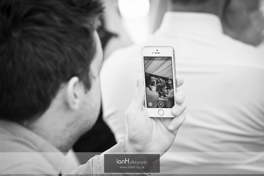 iphone at a wedding