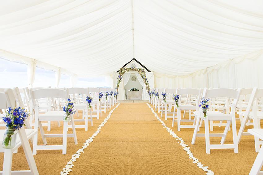 Beach Weddings Bournemouth wedding hut