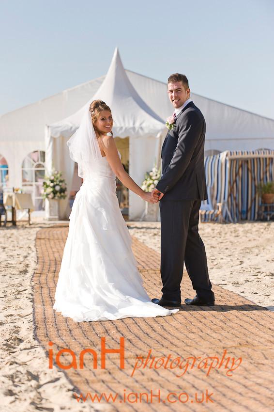 Beach weddings Bournemouth marquee - Dorset wedding photographer