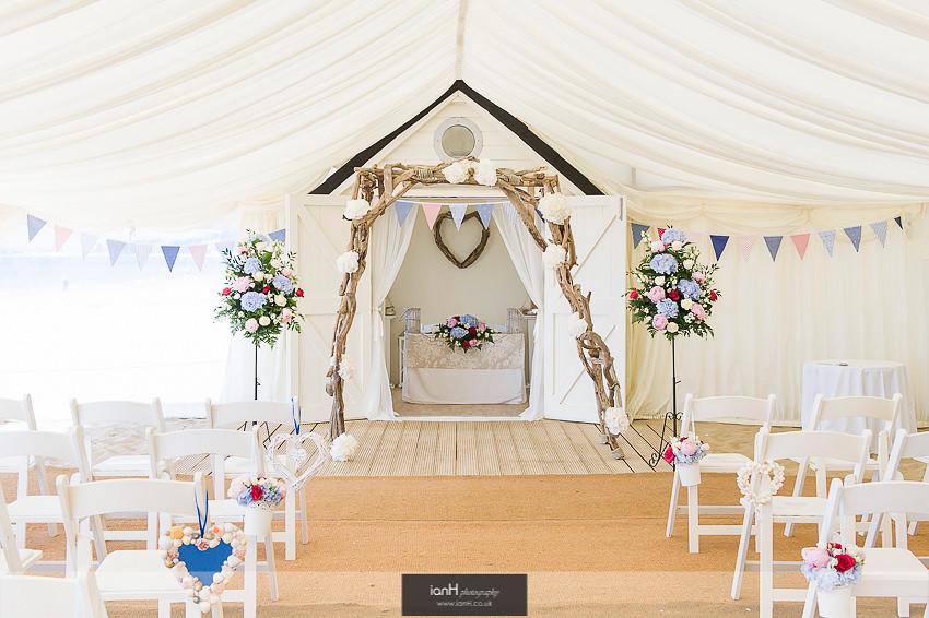 Driftwood Arch Beach Weddings Bournemouth