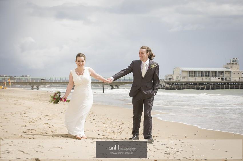 Beach Weddings Bournemouth photographer