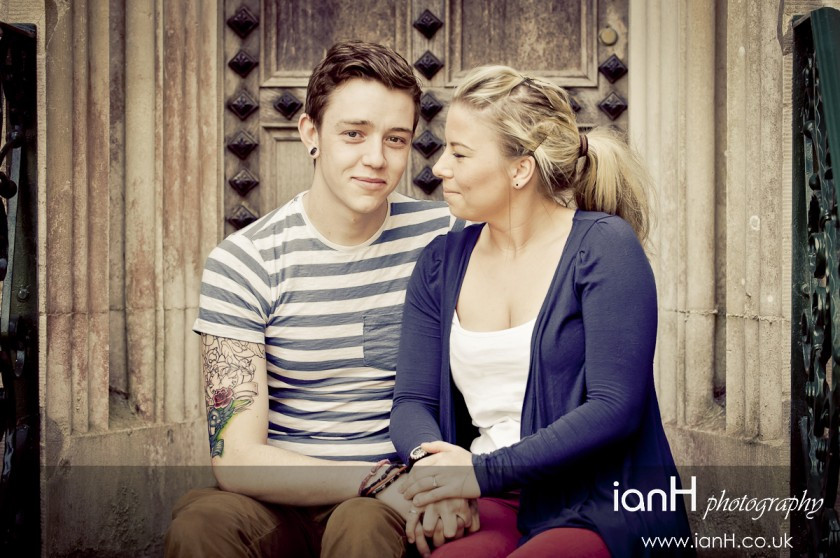 Young engaged couple at Highcliffe Castle Dorset - Dorset wedding photographer