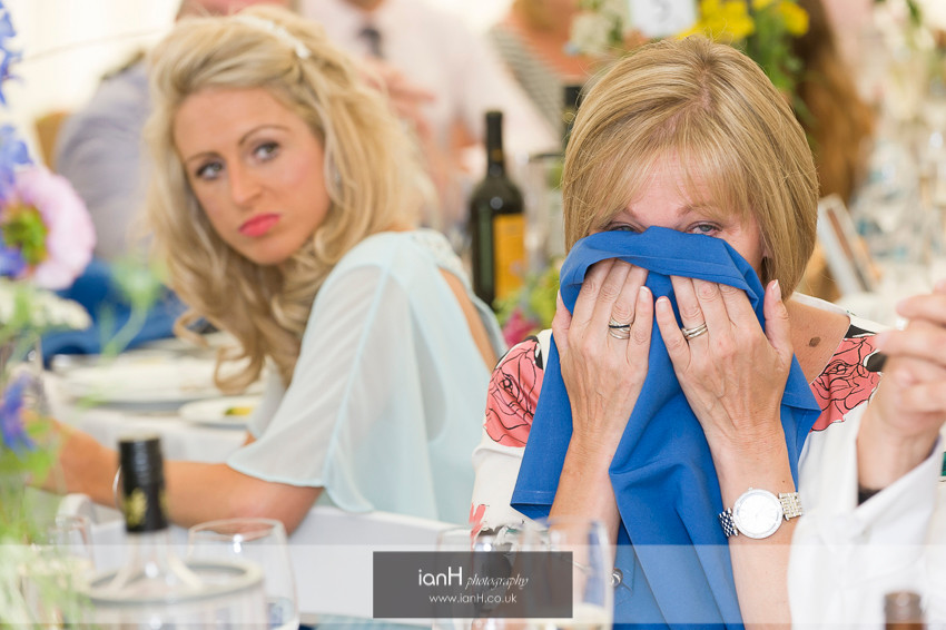Mothers tears at a Hampshire country marquee wedding