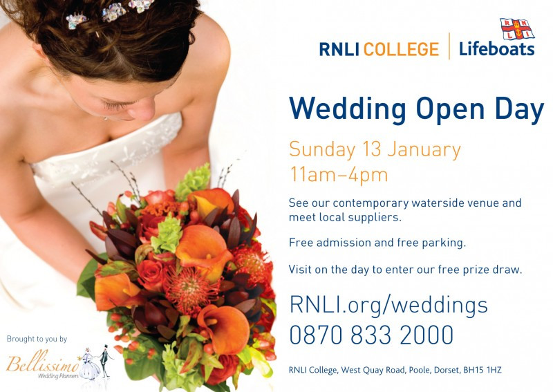 Wedding photography at the RNLI Poole Wedding Open Day