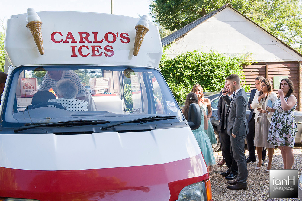 Carlo's ice cream at Sopley Mill wedding