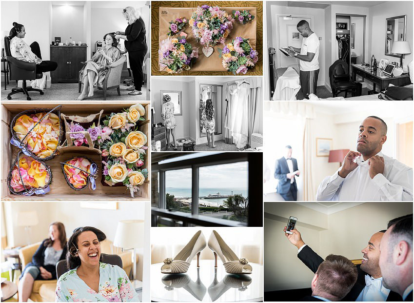 Bridal preparations for Beach Weddings Bournemouth