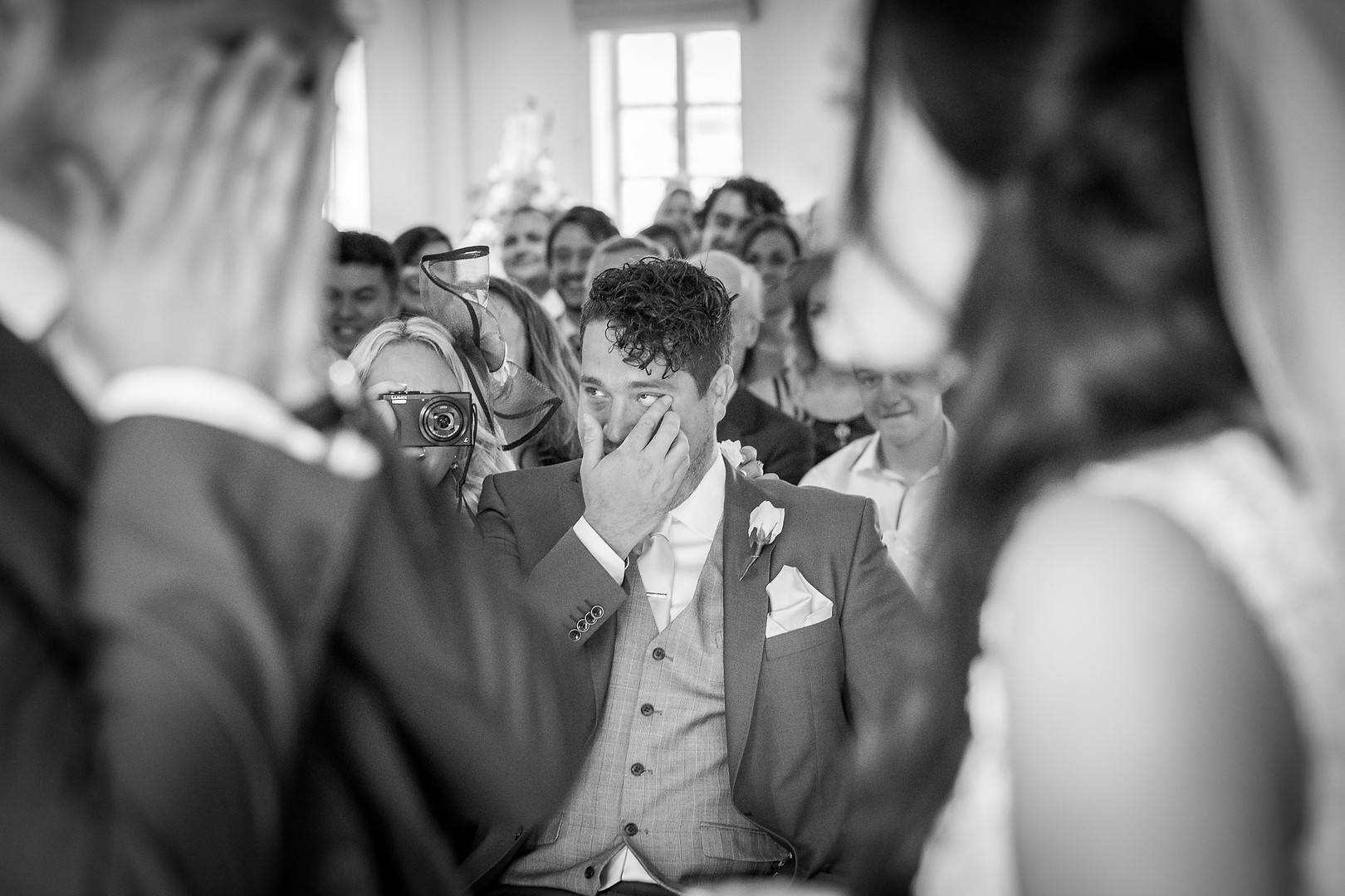 Best Man and Groom crying