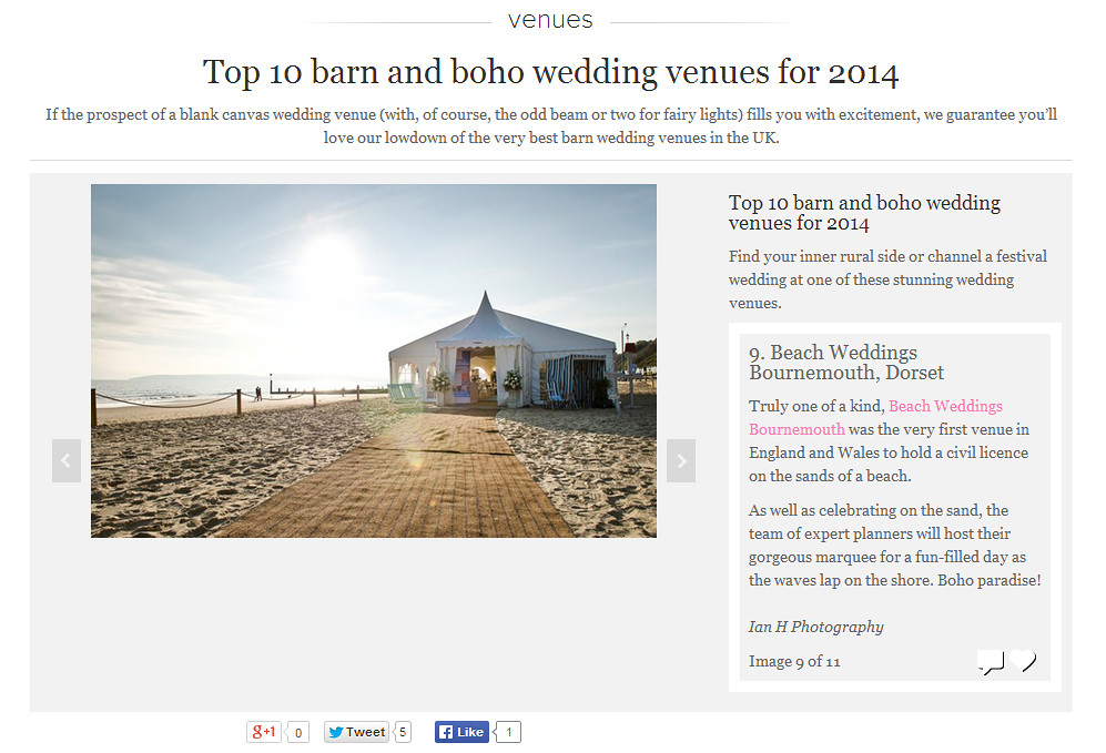 Beach-weddings-bournemouth-voted-top-10-barn-boho-wedding-venues