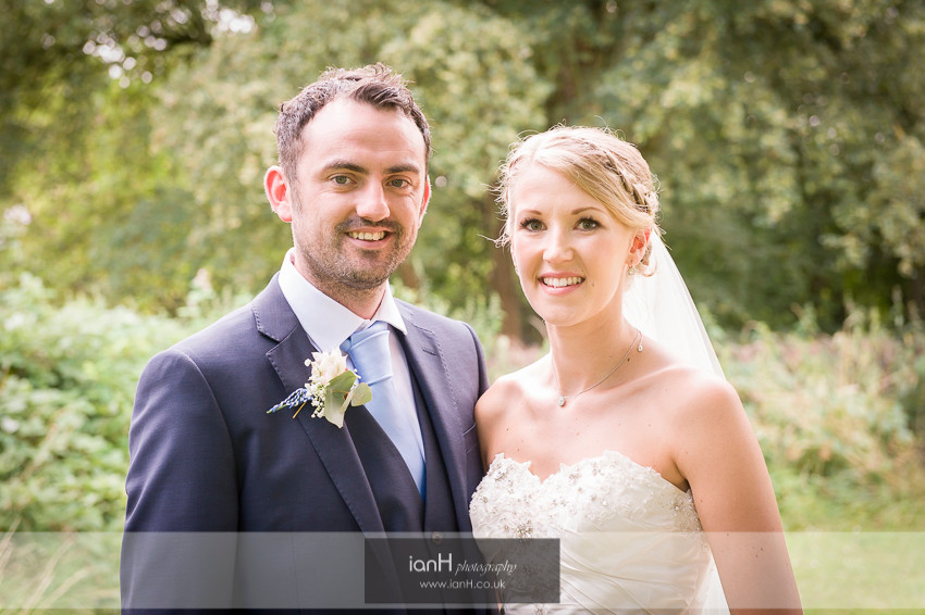 Portrait of Bride and Groom at Hampshire wedding
