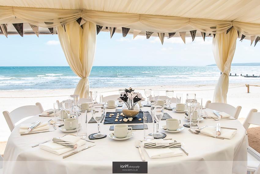 Dining at Beach Weddings Bournemouth
