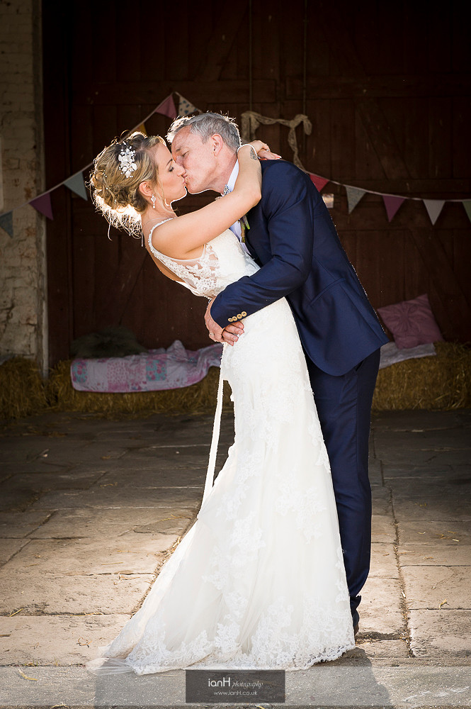 Bride and Groom at Studland Farm wedding
