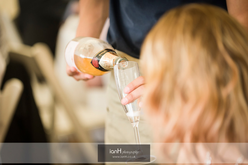 Champagne being poured at Beach Weddings Bournemouth