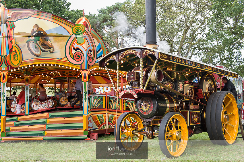 Showman's engine at New Forest wedding