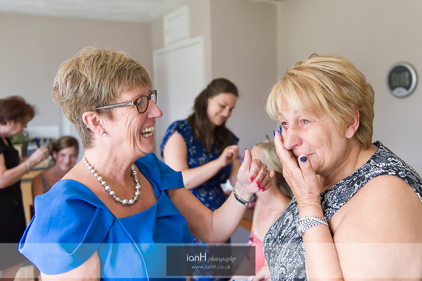 Tears from Mum during the Bridal prep