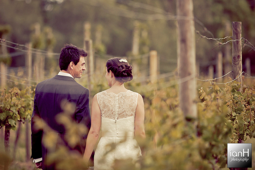 new-forest-wedding-bride-and-groom-walk-amongst-the-vines-at-the-vineyard