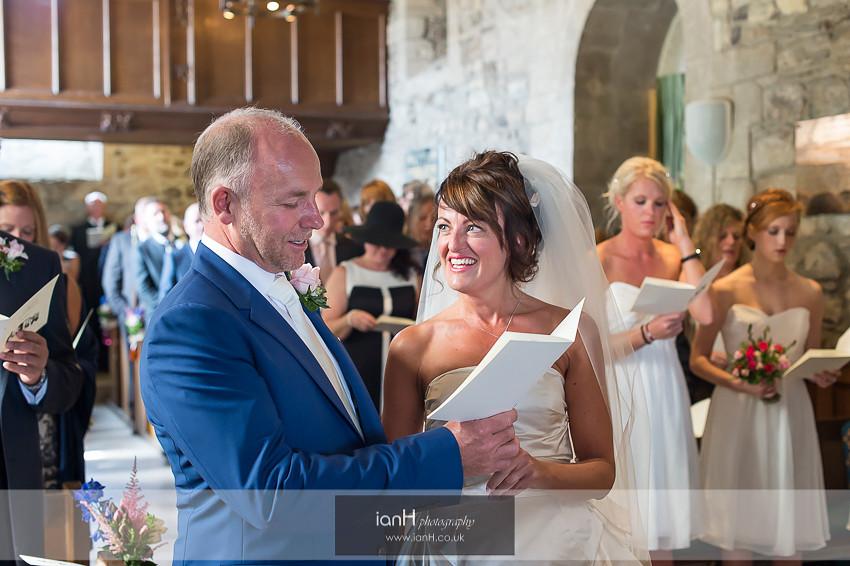 Studland Church wedding ceremony
