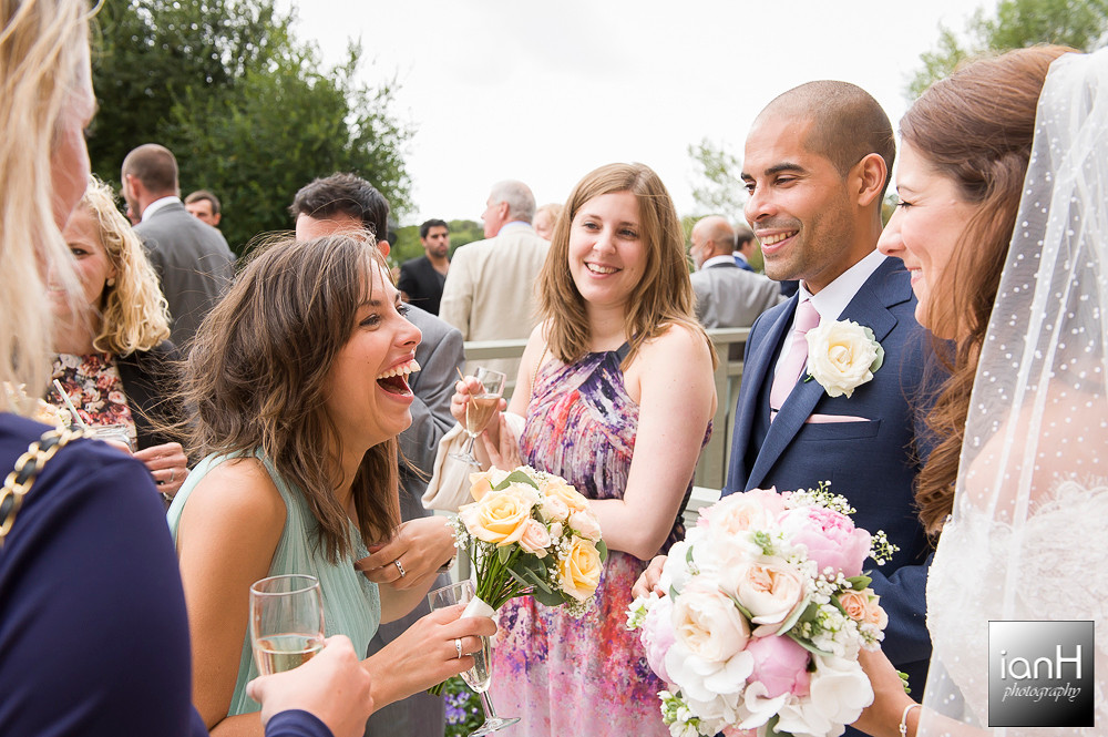 Laughter at Sopley Mill wedding