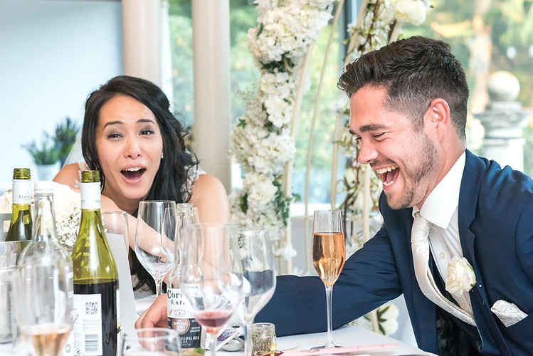 Laughter during the speeches