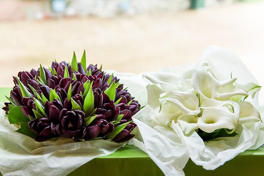 Wedding flowers at Sopley Mill