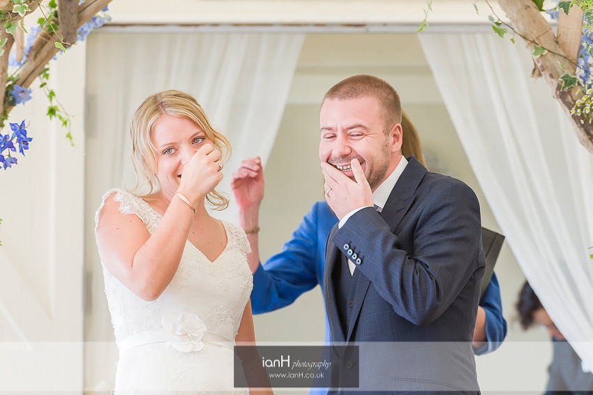 Laughing Bride and Groom at Beach Weddings Bournemouth