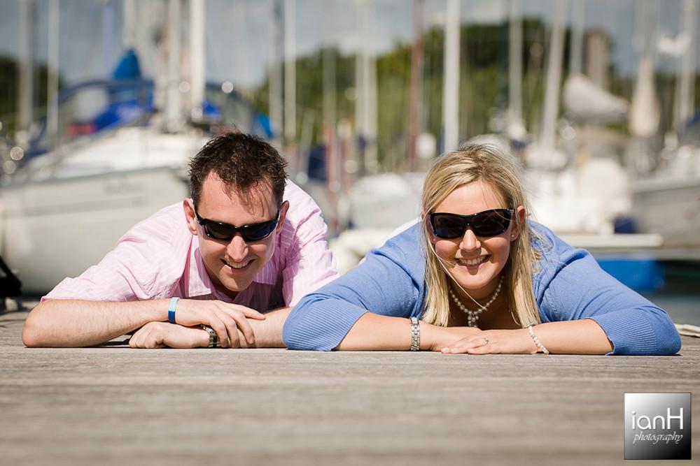 Lymington yacht marina engagement