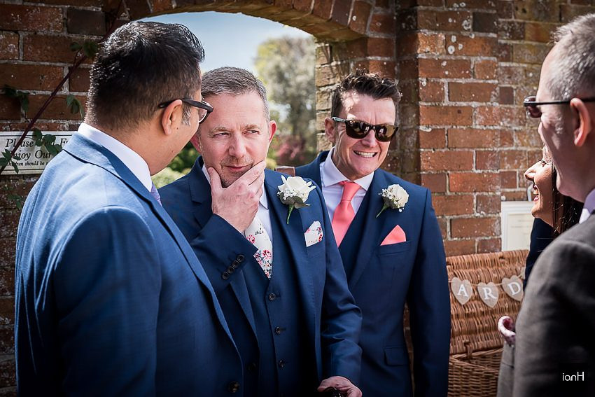 Groom and Best Man at Parley Manor wedding venue