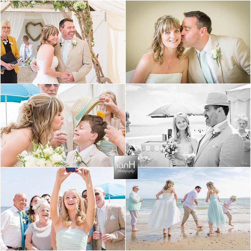 An intimate Bournemouth beach wedding