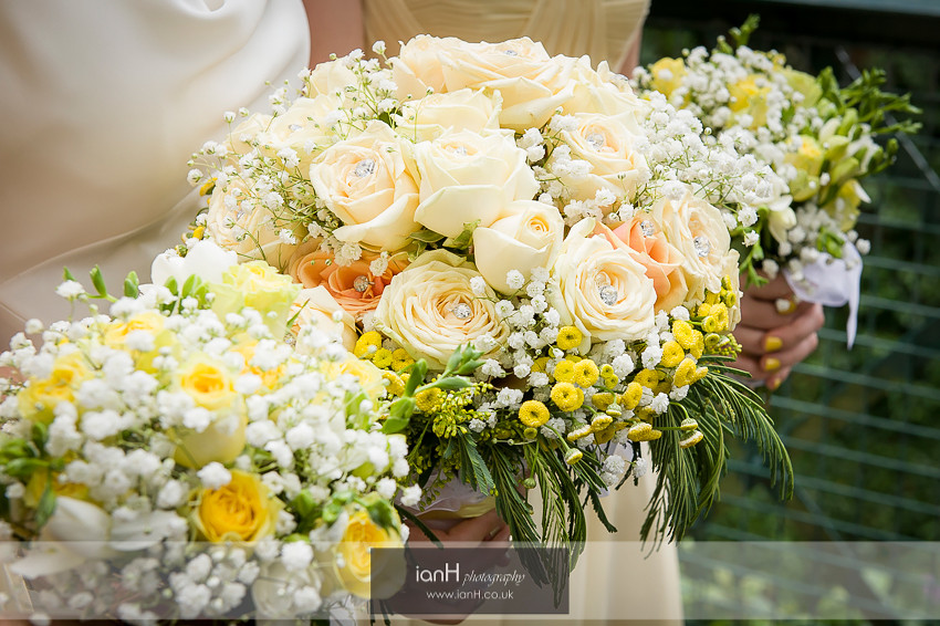 Wedding bouquets at a Riviera Hotel Bournemouth wedding