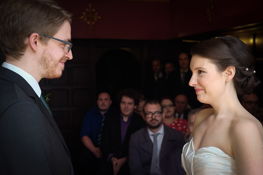 Wedding ceremony at Tudor Grange Hotel