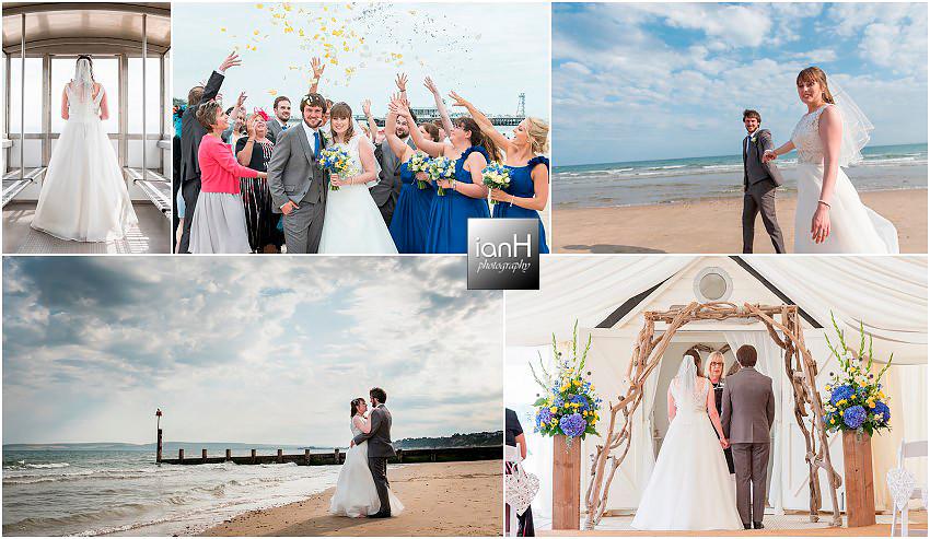 Bournemouth beach wedding - Hayley and Daniel